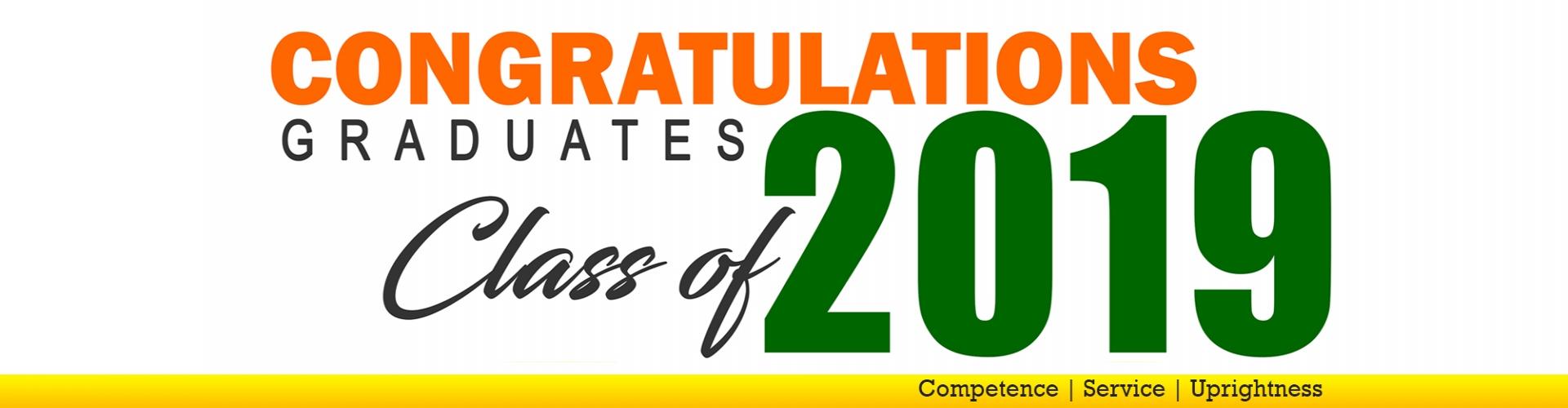Congratulations graduates class of 2019