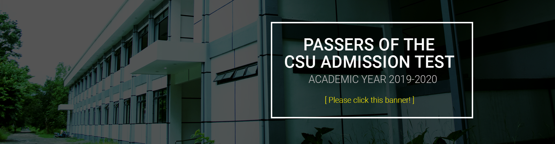 CSU Admission Test Passers Academic Year 2019-2020