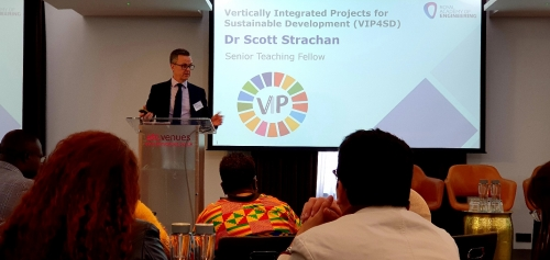 Dr. Scott Strachan, Senior Teaching Fellow at the University of Strathclyde, Glasgow, United Kingdom was the plenary speaker of the first day of the conference.