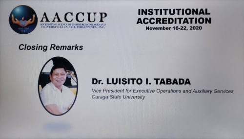CSU's AACCUP Institutional Accreditation Remarkably Ends