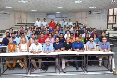 Participants from Laos, Iran, Indonesia, Myanmar, Philippines, and India with the speakers from Europe and India (first row).
