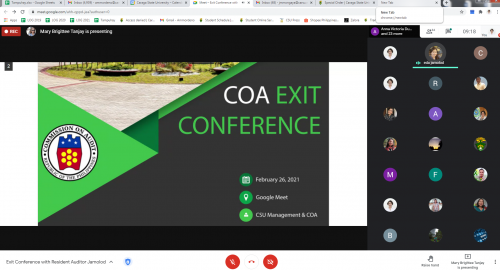 CSU and COA Ends FY 2020 with a Resounding Virtual Exit Conference