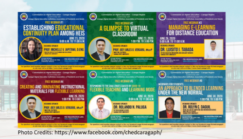 CHED Caraga and CSU Conduct Free Webinars  on Virtual Capacity Building for HEIs Stakeholders