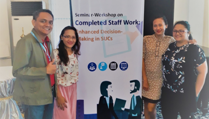 OPD Director & OUB Secretary attend Seminar-workshop  on Completed Staff Work: Enhanced Decision-Making in SUCs