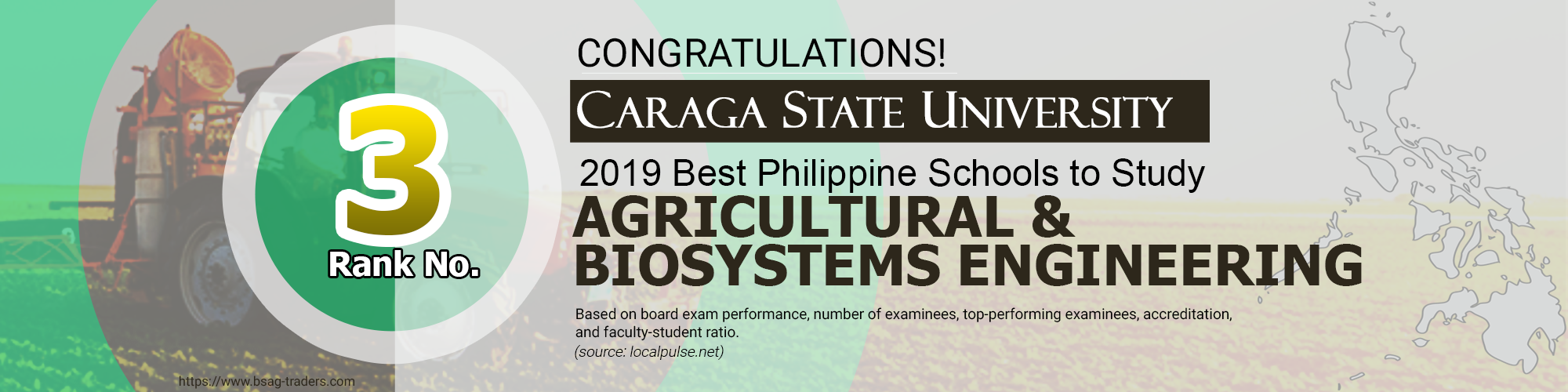 4 rank Best Agricultural & Biosystems Engineering Schools in the Philippines for 2019