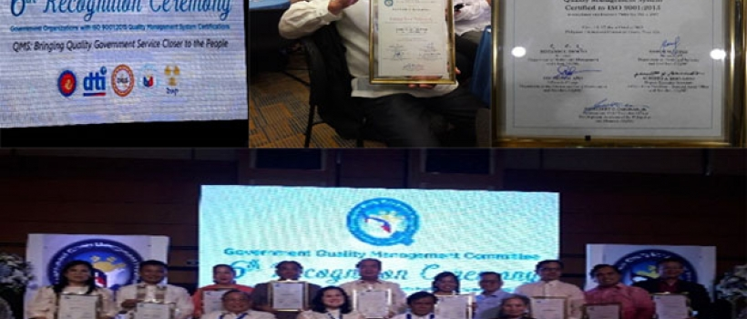 Government Quality Awards Committee ( GQMC) Commends CSU for its ISO 9001-2015 Compliance