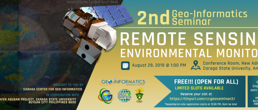 2nd Geo-Informatics Seminar on Remote Sensing for Environmental Monitoring