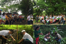 Butuanon Balikbayan plant trees at CSU Eco-Park